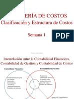 CLASIFICACION Y ESTRUCTURA DE COSTOS