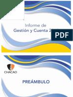 Informe de Gestión y Cuenta 2018 Alcaldía Chacao