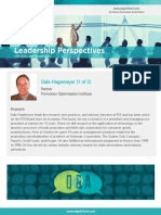 StayinFront Leadership Perspective Roundtable Interview with Dale Hagemeyer- 1 of 2