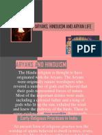 Aryans, Hinduism and Aryan Life