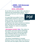 ALL ABOUT ARIES PERSONALITY
