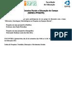 Núcleo de Estudos Rurais e Educação Do Campo - Panfleto
