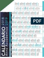 Calendario 2018 2019 Statale