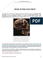 The First Inhabitants of Asia Were Black