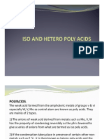 Iso and Hetropoly Acids