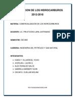 Exportacion de Hidrocarburos 2012-2018