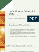 Cuantificador existencial único