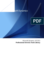 Microsoft Dynamics Gp Professional Services Tools Library