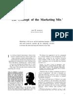 Borden 1984 the Concept of Marketing Mix