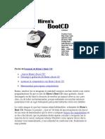 Partes del manual de Hiren's Boot CD: