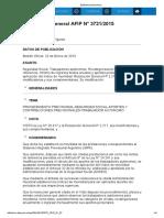 Rg 3721-15 Autónomos. Recategorización Anual
