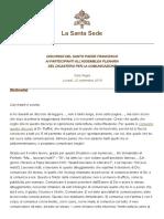 Papa Francesco 20190923 Dicastero Comunicazione