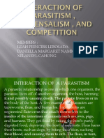 Interaction of ParaSitism , Commensalism , And Competition