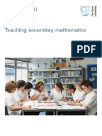 Teaching secondary maths