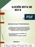RESOLUCION 2674 DEL 2013