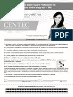 Centec 2015 Centec Professor-manutencao-Automotiva Prova