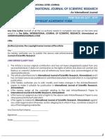 Copyright Agreement Form IJSR
