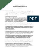 Formulacion de Proyectos-Anteproyecto