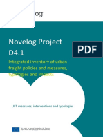 NOVELOG D4.1 Integrated inventory of urban freight policies and measures, typologies and impacts