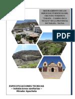 Especificaciones Tecnicas Biodigestor Apacheta