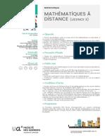 L Maths Distance Sciences Janv 2018