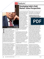 Dalal Street Investment Journal Developing India 39 s Gold Market Some Perspectives p k Singhal