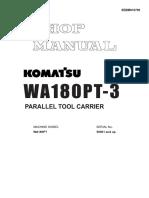 Wa180pt-3 Sebm016700 Shop Manual