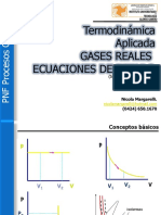 Termo Clase II B Gases Reales