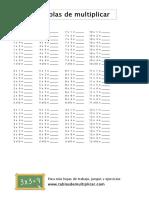Fichas de multiplicar