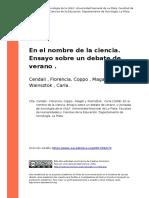 Cendali , Florencia, Coppo , Magali y (..) (2008). En el nombre de la ciencia. Ensayo sobre un debate de verano.pdf
