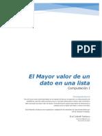 1.- Mayor Valor de Una Lista de Datos