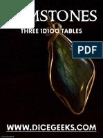 Gemstones - Three 1D100 Tables