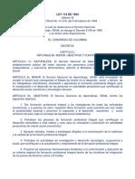 2. LEY 119 de 1994 Ley Reestructuración SENA