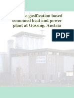 Biomass gasification based combined heat and power plant at Güssing, Austria