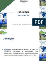 Engenharia Civil Faculdade  Multivix - Hidrologia - Aula introdutória