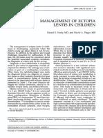 Artigo Management of Ectopia - Neely - 2001