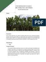 Plan de Fertilizacion Ecologica