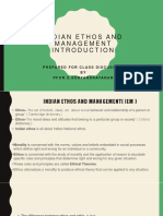 1.Introduction to Indian Ethos and Management