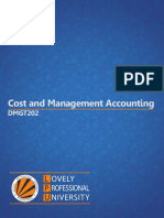 Dmgt202 Cost and Management Accounting