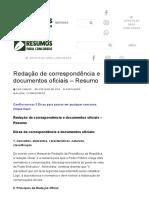 Redação de correspondência e documentos oficiais – Resumo – Resumos para Concursos.pdf