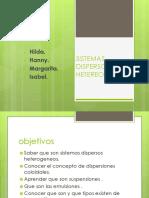 Sistemas dispersos heterogeneos