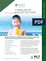 Vibrant Harvest Product Sheet