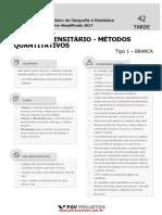 Ibge Analista Censitario Metodos Quantitativos Ac Mquan Tipo 1