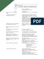 Cuestionario Temático de Un Proyecto Específico. Modelo