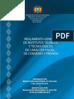 Reglamento Institutos Bolivia