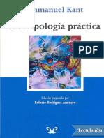 Immanuel Kant - Antropología príctica