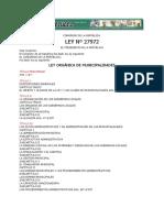 Ley n 27972 Municipalidades