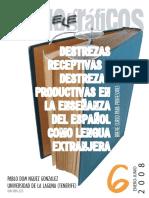 destrezas receptivas  y productivas en la enseñanza del español