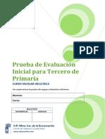 Prueba de Evaluación Inicial de 3º de Primaria