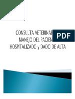 Manejo de paciente hospitalizado